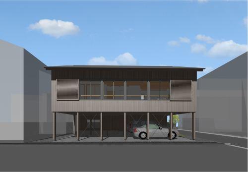 Q1住宅L3徳島北島町:ベースセッターと建方 2_e0054299_06435554.jpg