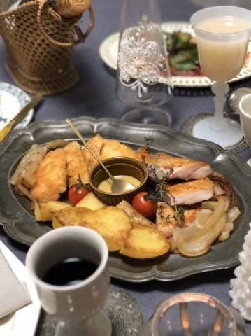 旦那さんの手料理でクリスマスディナー2019_a0157409_09293488.jpeg