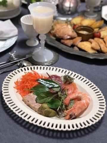 旦那さんの手料理でクリスマスディナー2019_a0157409_09303926.jpeg