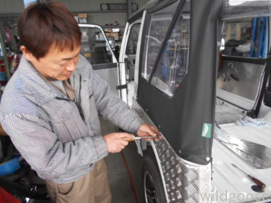 JA11Cジムニー幌 納車整備中(*^o^*)_c0213517_15053733.jpg