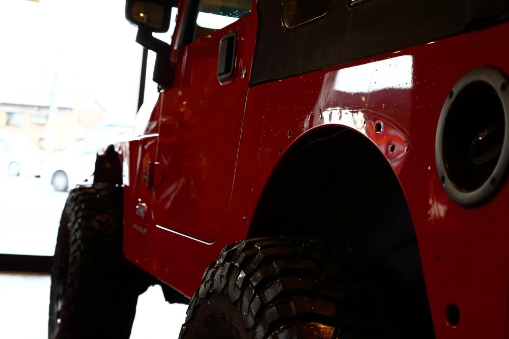 JLUご納車完了 フレームレッドTJカスタム作業開始_f0105425_20461742.jpg