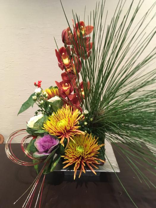 お正月花のレッスン〜京都_f0155431_21564166.jpg