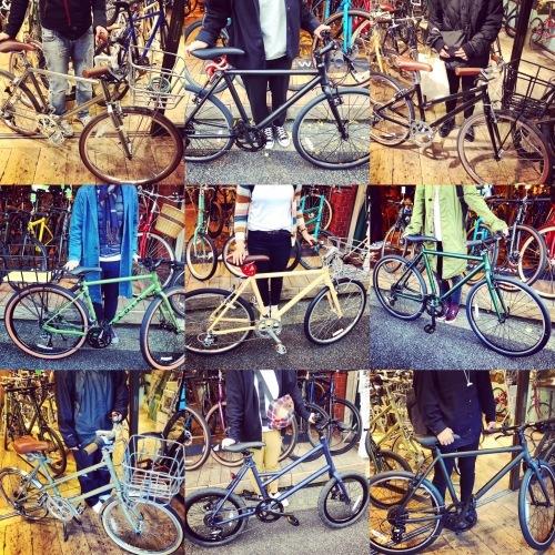 ☆本日のバイシクルガール☆ 自転車女子 自転車ガール ミニベロ クロスバイク ライトウェイ トーキョーバイク シュウイン ラレー ブルーノ おしゃれ自転車 マリン ターン シェファード_b0212032_15110153.jpeg