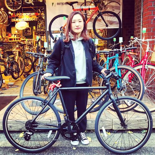 ☆本日のバイシクルガール☆ 自転車女子 自転車ガール ミニベロ クロスバイク ライトウェイ トーキョーバイク シュウイン ラレー ブルーノ おしゃれ自転車 マリン ターン シェファード_b0212032_15113642.jpeg