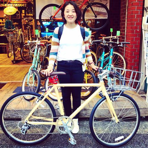 ☆本日のバイシクルガール☆ 自転車女子 自転車ガール ミニベロ クロスバイク ライトウェイ トーキョーバイク シュウイン ラレー ブルーノ おしゃれ自転車 マリン ターン シェファード_b0212032_15130636.jpeg