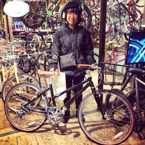 ☆本日のバイシクルガール☆ 自転車女子 自転車ガール ミニベロ クロスバイク ライトウェイ トーキョーバイク シュウイン ラレー ブルーノ おしゃれ自転車 マリン ターン シェファード_b0212032_15152745.jpeg