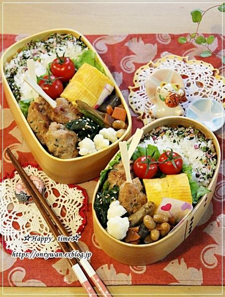 今年のお弁当納めは豚つくね弁当と~♪_f0348032_18525066.jpg