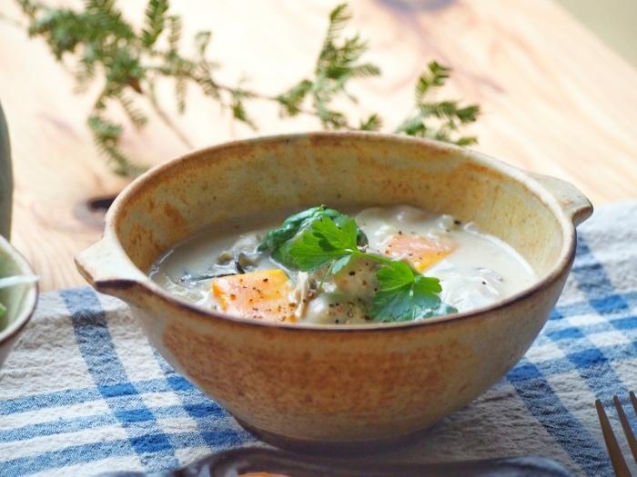 牡蠣スープ朝ごはん_b0277136_08400077.jpeg