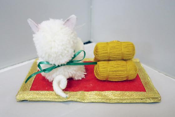 ポンポン人形 ~ 招き猫 ~_e0222340_15444199.jpg