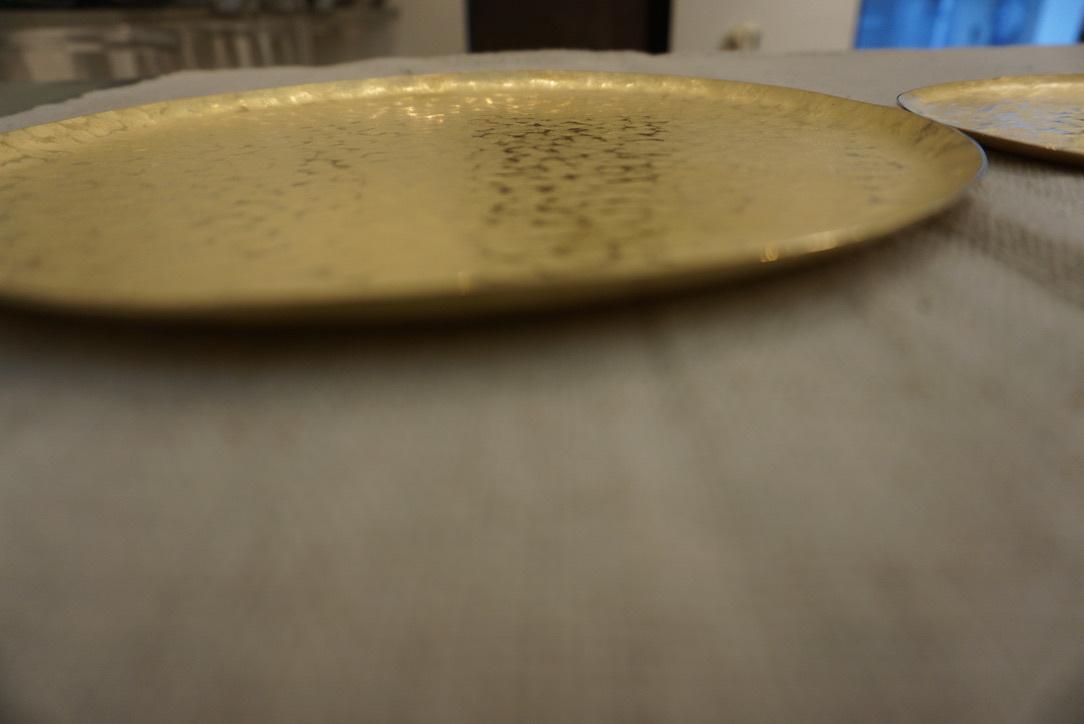 真鍮のお皿 奥澤華_b0132442_16401793.jpg