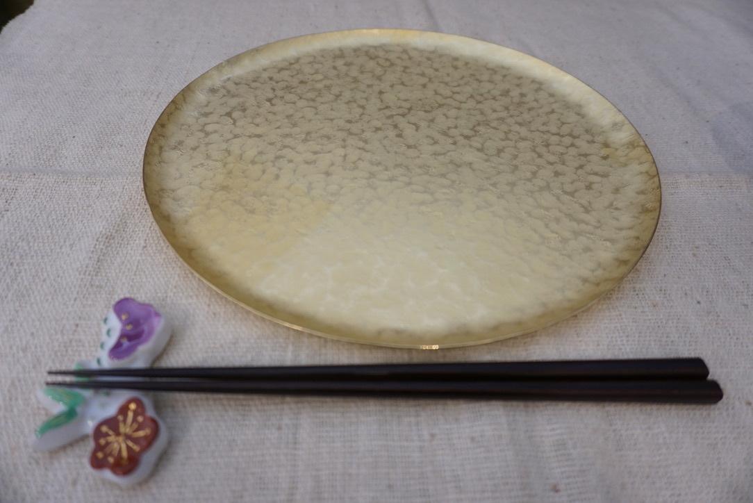真鍮のお皿 奥澤華_b0132442_16404301.jpg