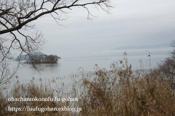 超残業の山盛りピラフディナー&冬の琵琶湖散歩_c0326245_12495350.jpg