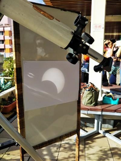 部分日食観望会は晴れのち曇りのち雨_a0095470_22135726.jpg