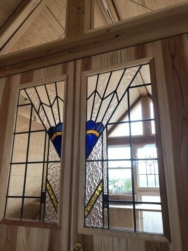 木の教会のような家の玄関アプローチ_d0087595_15392992.jpeg