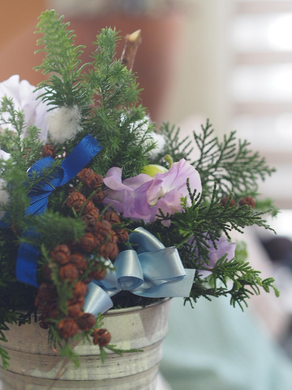 クリスマスツリーアレンジメント@キッズクラス_d0144095_17012751.jpg