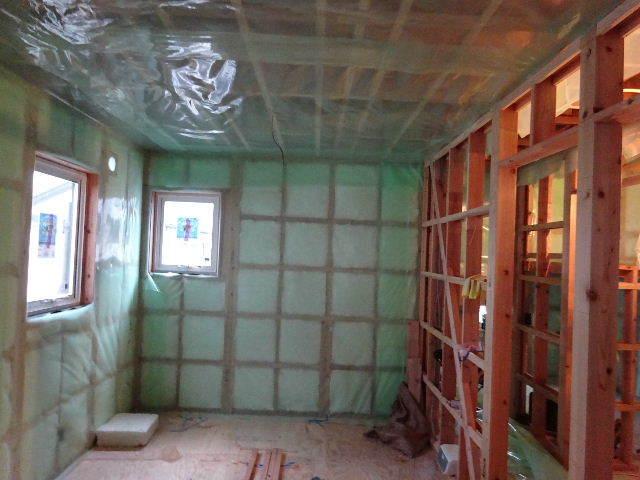 滝沢 穴口の家 大工工事進行中。_f0105112_04451633.jpg