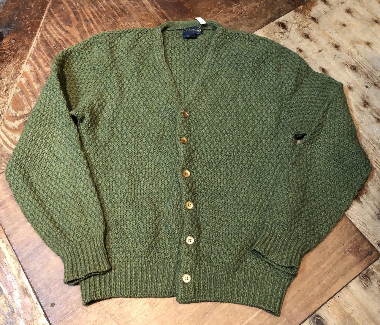 12月27日(金)入荷!80s all wool Van Heusen カーディガン!_c0144020_13280343.jpg