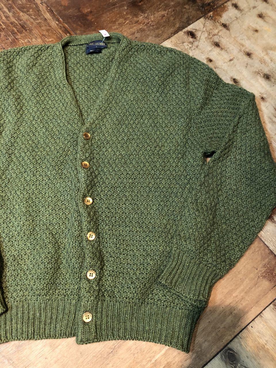 12月27日(金)入荷!80s all wool Van Heusen カーディガン!_c0144020_13280602.jpg
