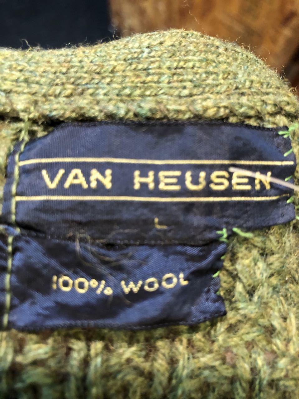 12月27日(金)入荷!80s all wool Van Heusen カーディガン!_c0144020_13280844.jpg