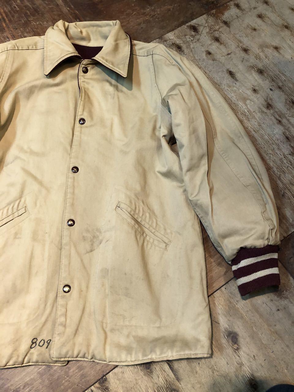 12月27日(金)入荷!60s リバーシブル パチポケ Varsity Jacket!! スタジャン!_c0144020_13322218.jpg