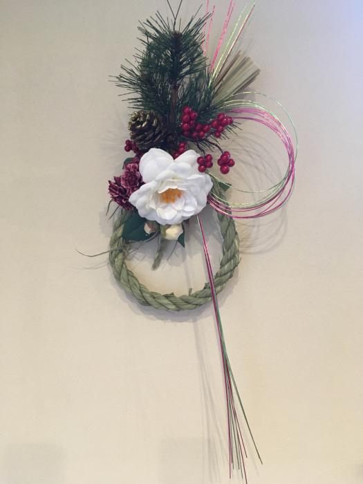 お正月花のレッスン〜自宅_f0155431_21202956.jpg