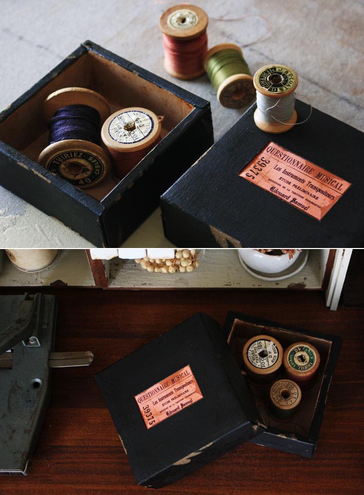 「空き箱」をアンティーク風リメイク_d0351435_09114181.jpg