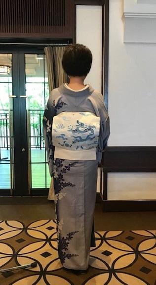 11周年・ぼよさんご夫妻・中村乃武夫さん訪問着・龍の帯。_f0181251_16595514.jpg