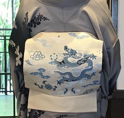 11周年・ぼよさんご夫妻・中村乃武夫さん訪問着・龍の帯。_f0181251_17004274.jpg