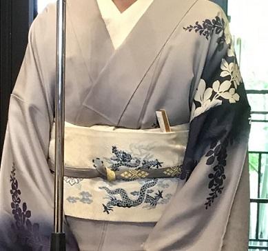 11周年・ぼよさんご夫妻・中村乃武夫さん訪問着・龍の帯。_f0181251_17012377.jpg