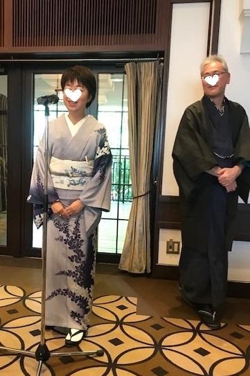 11周年・ぼよさんご夫妻・中村乃武夫さん訪問着・龍の帯。_f0181251_17114253.jpg