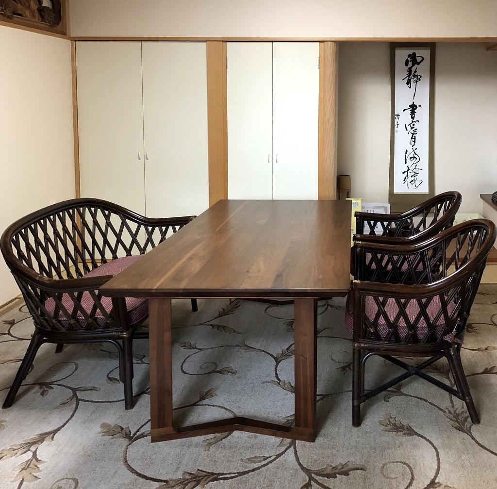 カリモク家具 和室へのテーブル納品実例_d0224984_16222911.jpg