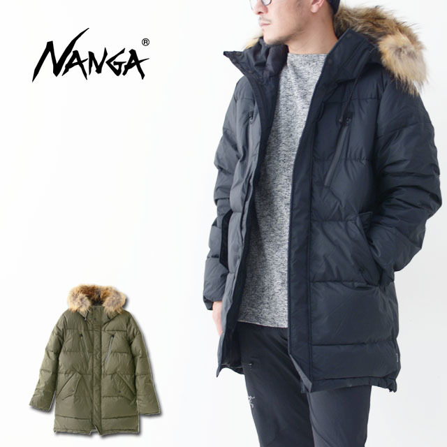 NANGA [ナンガ] DOWN HALF COAT [530DHC19] ファー付きダウンコート・ダウンジャケット・ アウター・メンズ_f0051306_16205802.jpg