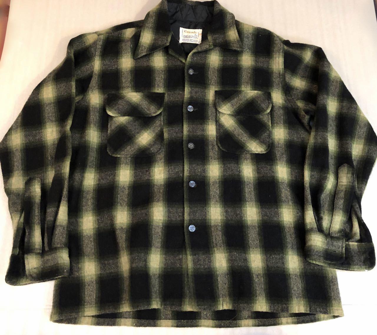 12月29日(日)入荷!60s〜オンブレ オープンカラーウールシャツ wool shirts!_c0144020_19263566.jpg