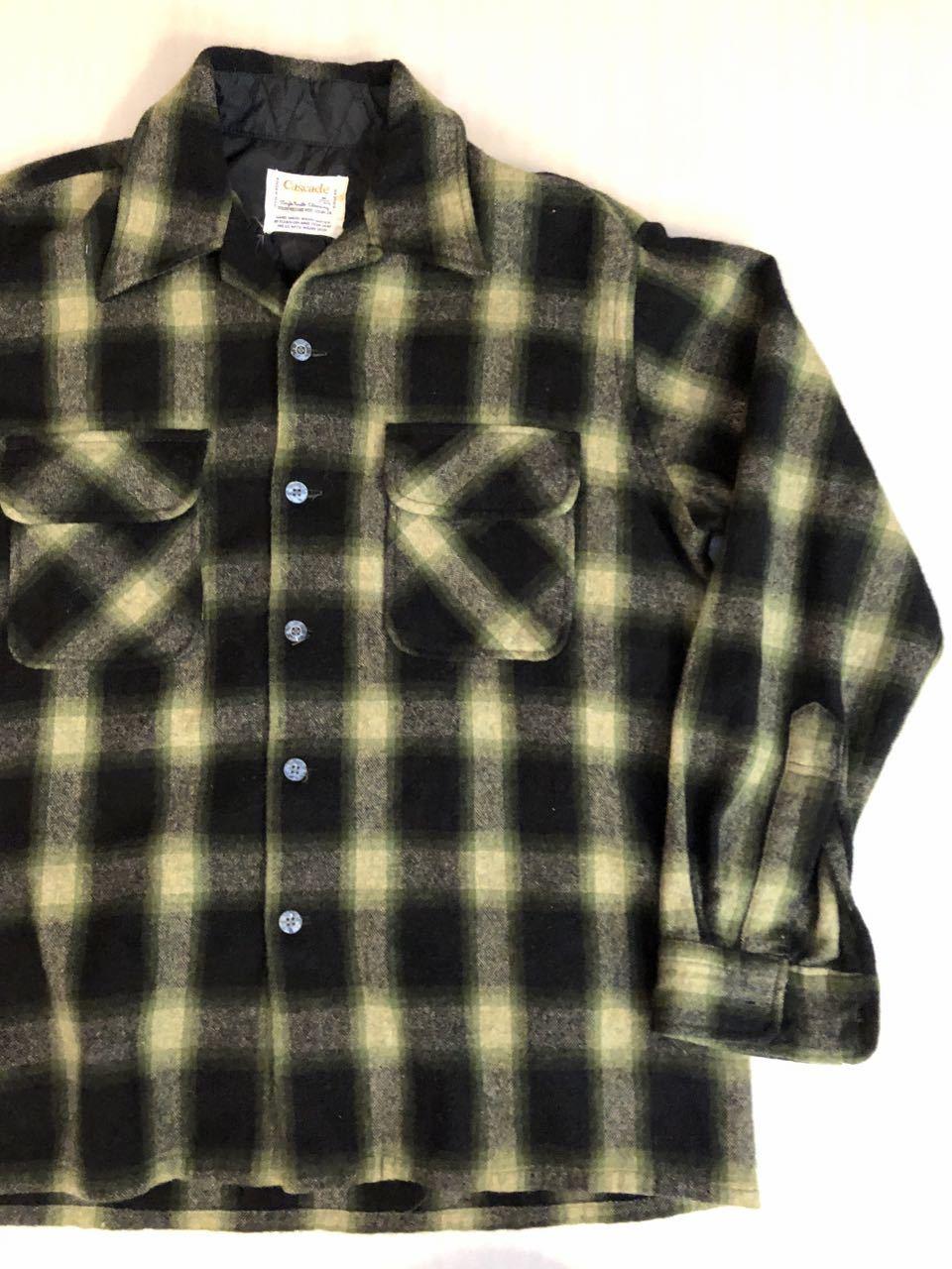 12月29日(日)入荷!60s〜オンブレ オープンカラーウールシャツ wool shirts!_c0144020_19263759.jpg