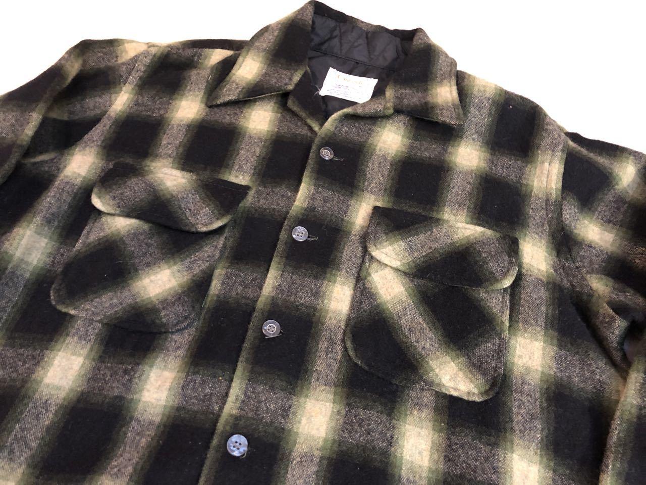 12月29日(日)入荷!60s〜オンブレ オープンカラーウールシャツ wool shirts!_c0144020_19263976.jpg