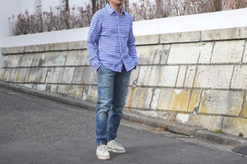 フレンチリネンシャツにシンプルな単色ギンガムチェックネイビーも新登場!_d0108933_18162384.jpg