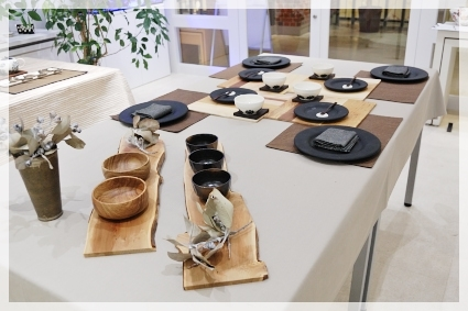 木の器のある冬の日のテーブル♪ ~インストラクタークラス_d0217944_17300033.jpg