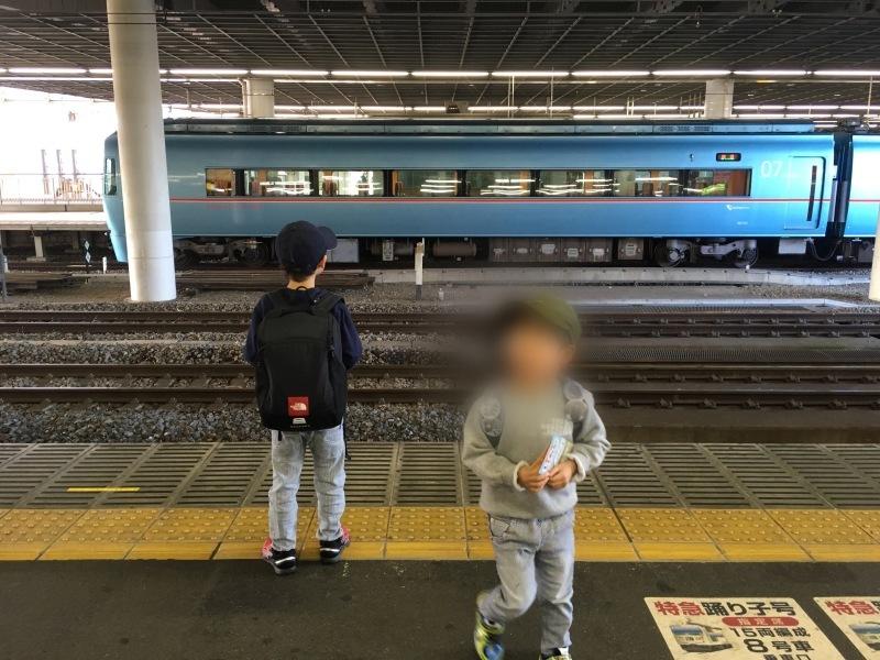 小田原駅にてロマンスカーMSEと踊り子と大雄山線。_d0367998_20131627.jpeg