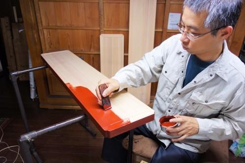 蛭子神社様八足案、下地・塗り編 2019.12.30_c0213599_23441374.jpg