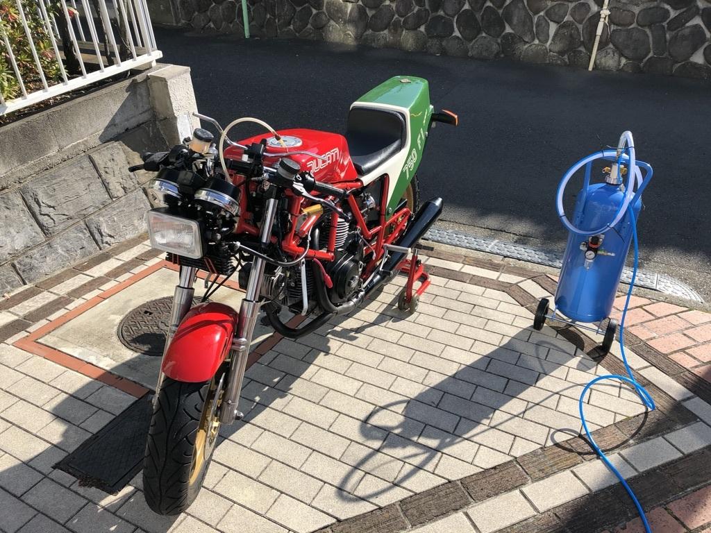 Ducati F1重曹ブラストに挑戦_a0051924_11111254.jpeg