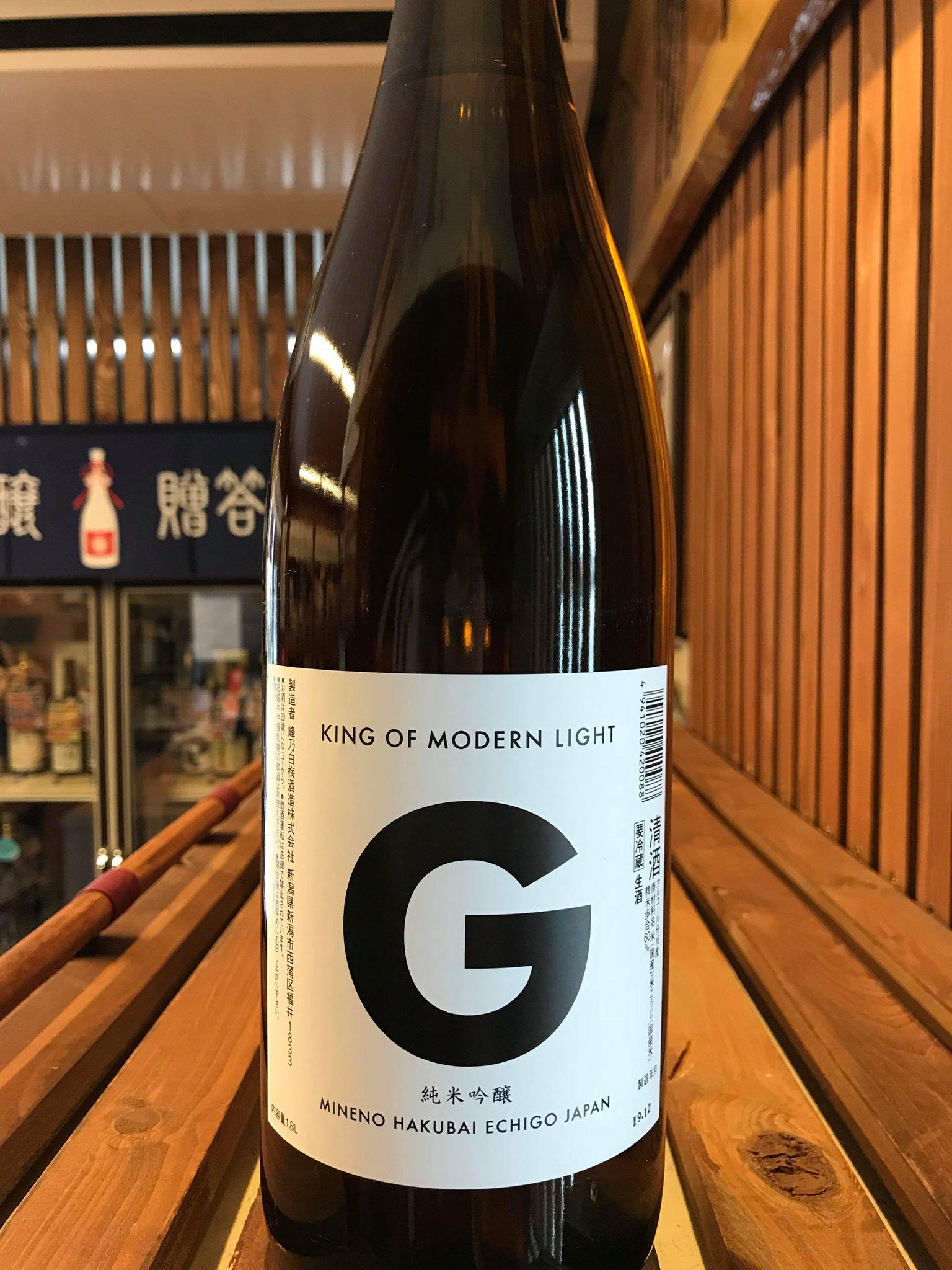 【日本酒】KING OF MODERN LIGHT Prototype 『G』純米吟醸 無濾過生原酒 限定 新酒令和1BY🆕_e0173738_1495877.jpg