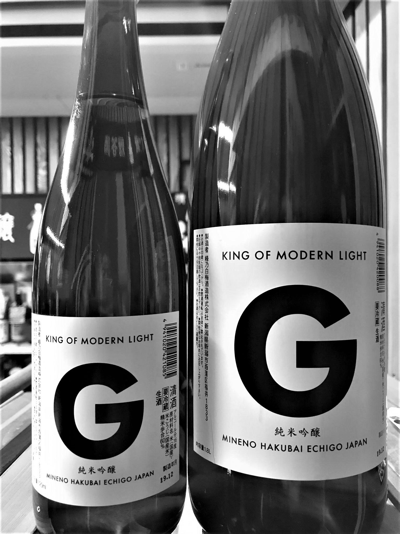 【日本酒】KING OF MODERN LIGHT Prototype 『G』純米吟醸 無濾過生原酒 限定 新酒令和1BY🆕_e0173738_18273440.jpg