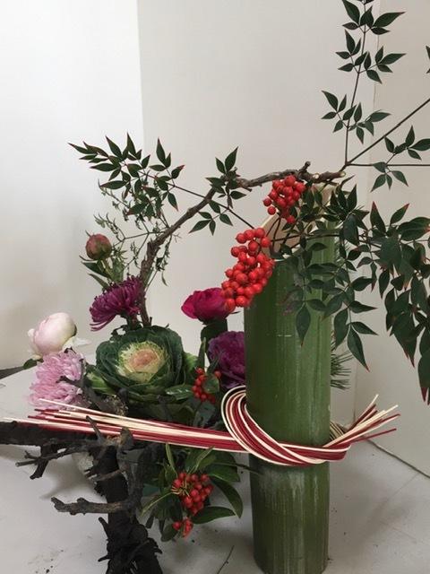 お正月の生け花_e0350971_08431539.jpg