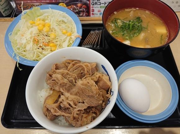 12/30 牛めしミニ生野菜玉子セット豚汁チェンジ¥570 @松屋_b0042308_14140825.jpg