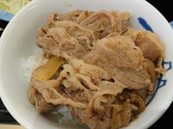 12/30 牛めしミニ生野菜玉子セット豚汁チェンジ¥570 @松屋_b0042308_14150878.jpg