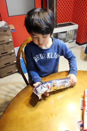 息子とアウトドア風ストーブ料理  札幌自転車屋。_a0139912_17553259.jpg