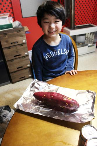 息子とアウトドア風ストーブ料理  札幌自転車屋。_a0139912_17555263.jpg