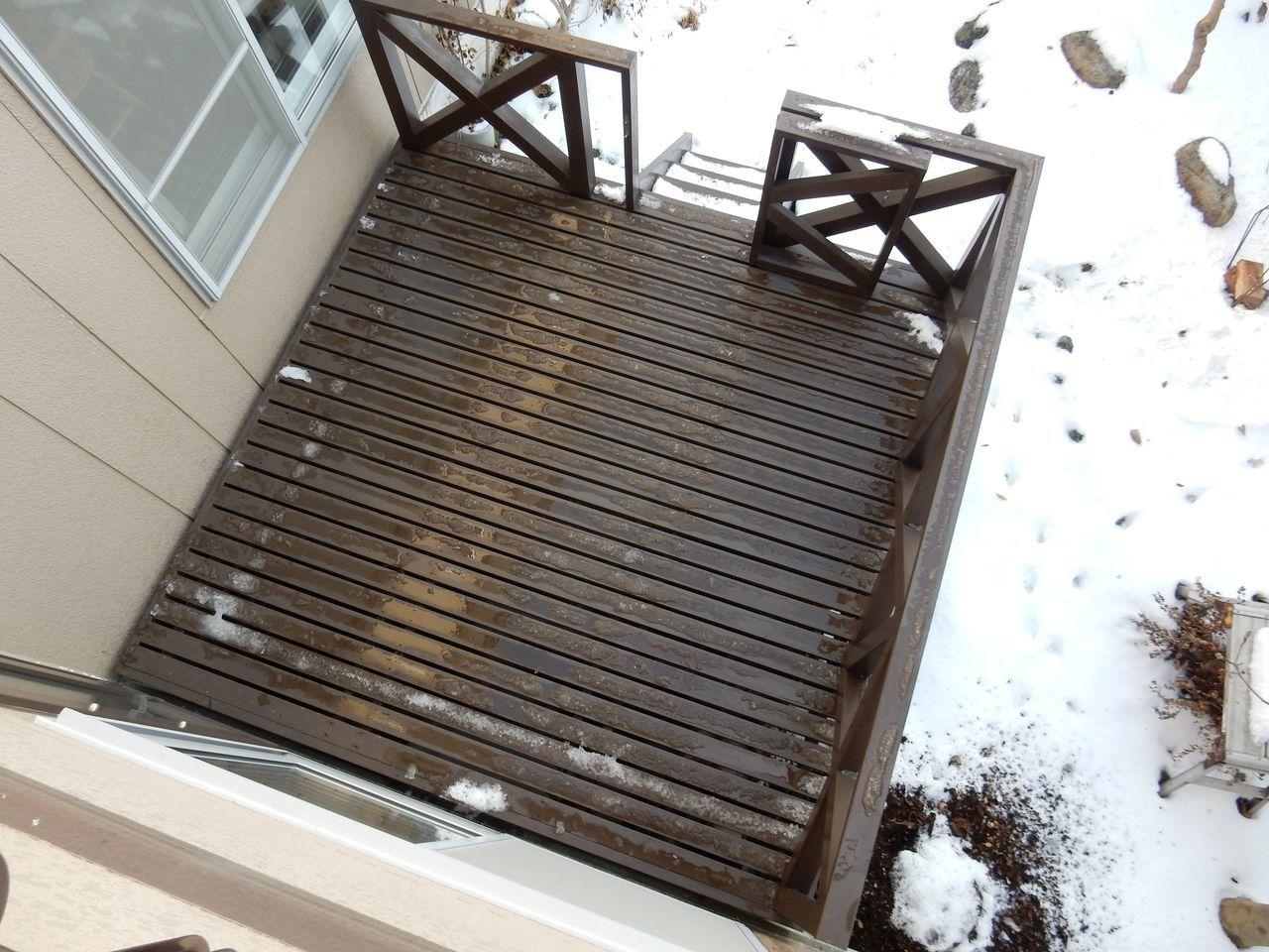 夜になっても気温は上がり積雪は2センチまで下がる_c0025115_22504706.jpg