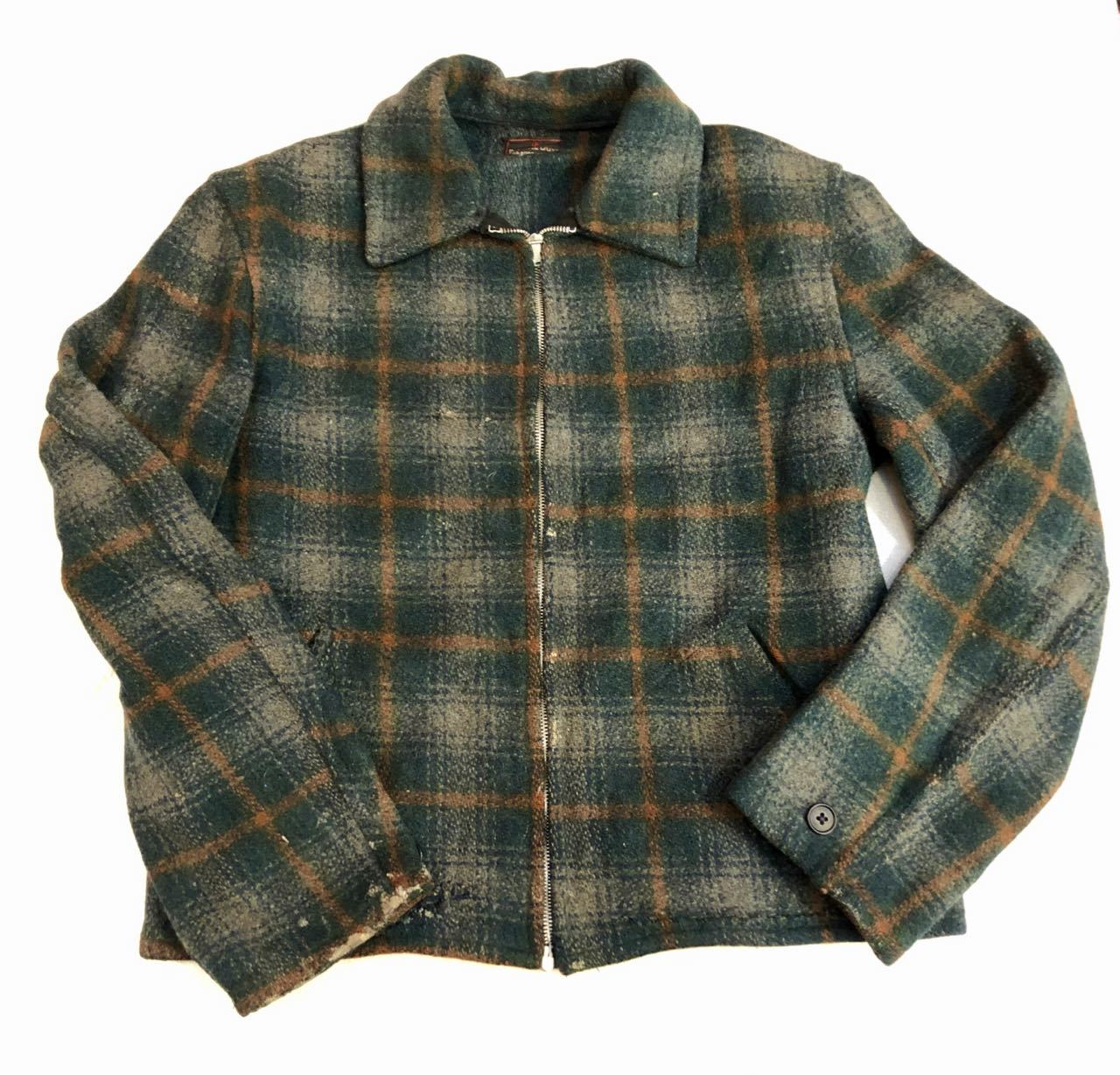 1月2日(木)新春初売り商品! 40s Double Duty wool onbre Jacket!! CROWN ZIPPER!_c0144020_13280827.jpg