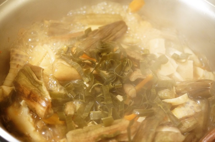 ■今日も副菜作り^^!【9品目具の具材入り 季節の作り置き煮物】_b0033423_23404067.jpg